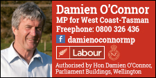 HON DAMIEN O'CONNOR – MP FOR WEST COAST-TASMAN